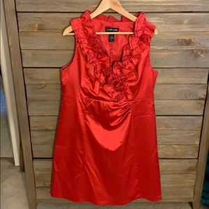 Beautiful Red Satin Party Dress, 16W